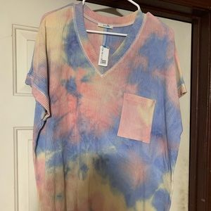 Multi Tie Dye Boutique Top
